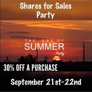 30% off - Share for sales!  Participating!  Yeah!